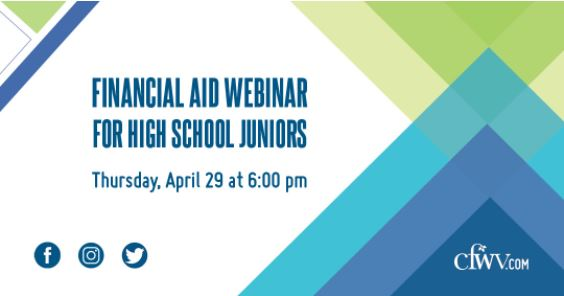Financial Aid Webinar for High School Juniors - Thursday, April 29th at 6:00 PM.